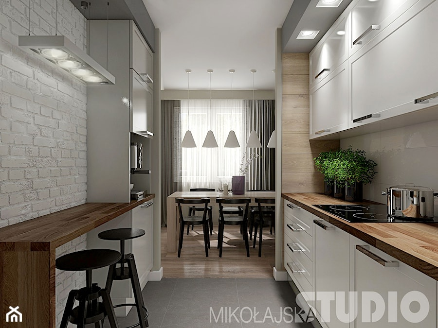 Kuchnia w stylu skandynawskim  zdjęcie od MIKOŁAJSKAstudio -> Mala Kuchnia Styl Skandynawski