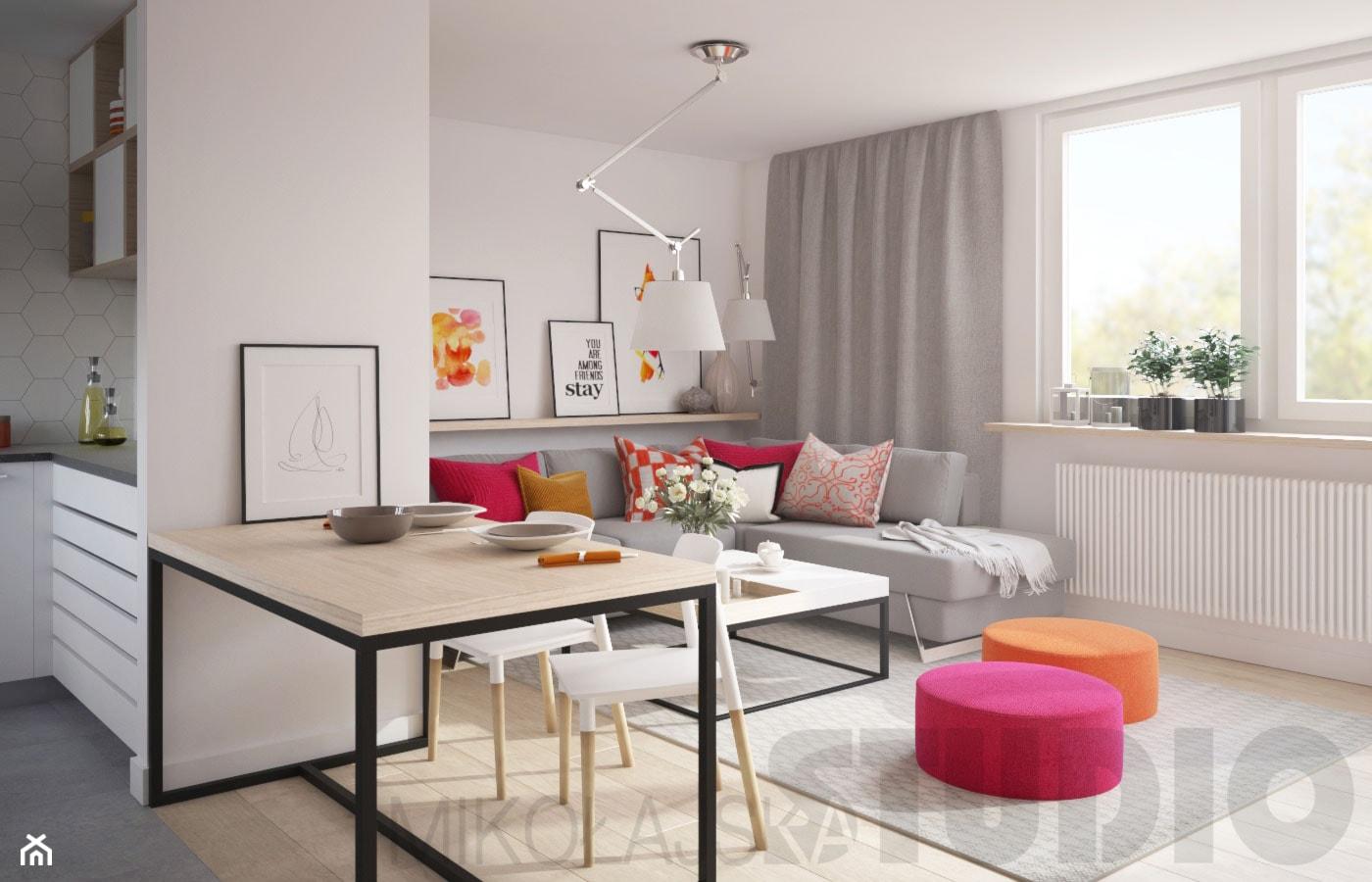Energetyzujace kolory w salonie - zdjęcie od MIKOŁAJSKAstudio - Homebook
