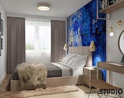 kobaltowa sypialnia - zdjęcie od MIKOŁAJSKAstudio