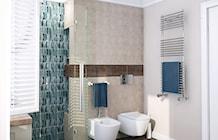 ekskluzywna łazienka-turkusowa mozaika - zdjęcie od MIKOŁAJSKAstudio