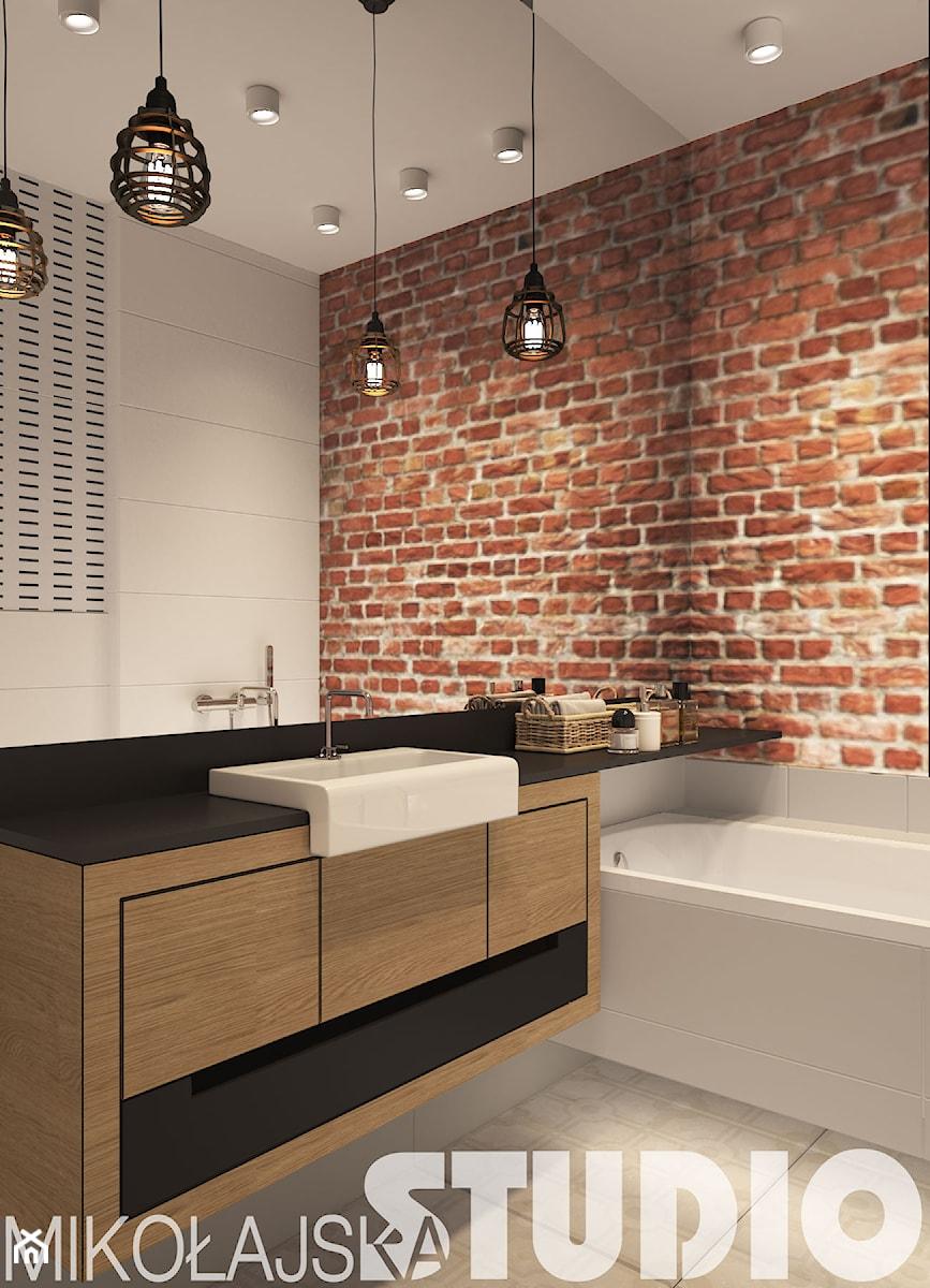 nowoczesna łazienka w ascetycznym stylu - zdjęcie od MIKOŁAJSKAstudio