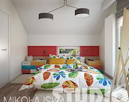 kolorowa sypialnia styl skandynawski - zdjęcie od MIKOŁAJSKAstudio