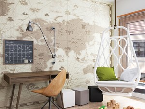 mapa w pokoju dziecięcym - zdjęcie od MIKOŁAJSKAstudio