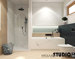 Dom przy Działkowskiego - Średnia łazienka w bloku w domu jednorodzinnym z oknem, styl nowoczesny - zdjęcie od MIKOŁAJSKAstudio