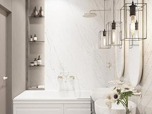 beż i marmur w łazience - zdjęcie od MIKOŁAJSKAstudio