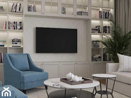 Aranżacje wnętrz - Salon: Apartament na Warszawskim Wyględowie - Salon, styl klasyczny - MIKOŁAJSKAstudio. Przeglądaj, dodawaj i zapisuj najlepsze zdjęcia, pomysły i inspiracje designerskie. W bazie mamy już prawie milion fotografii!