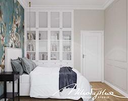 Biała zabudowa w sypialni - zdjęcie od MIKOŁAJSKAstudio - Homebook