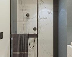 Łazienka z otwartą kabiną prysznicową - zdjęcie od MIKOŁAJSKAstudio - Homebook