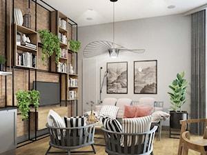 mieszkanie drewno,cegła, szarości - zdjęcie od MIKOŁAJSKAstudio