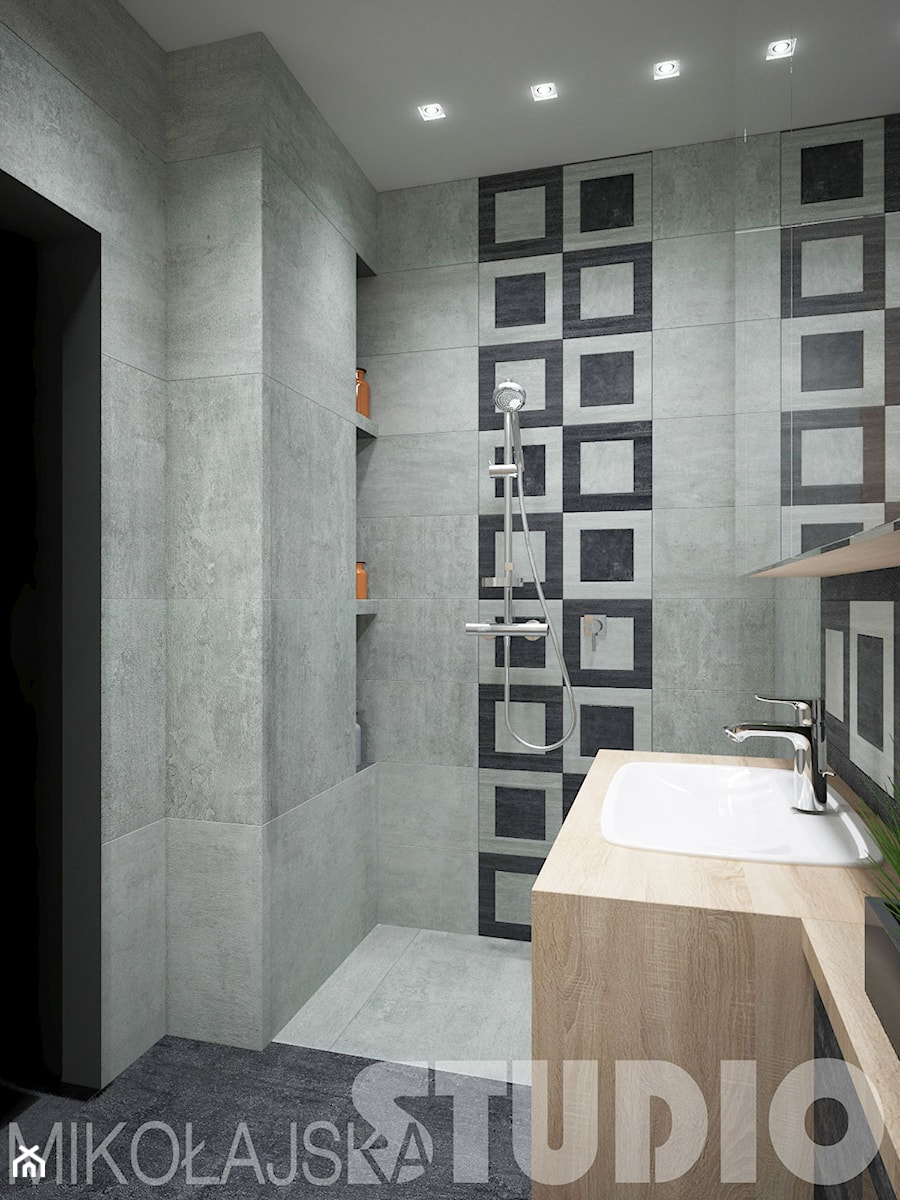 łazienka Drewno Beton Zdjęcie Od Mikołajskastudio Homebook