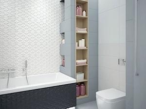 łazienka w różu i szarości - zdjęcie od MIKOŁAJSKAstudio