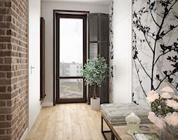 LOFT style - Średni biały czarny brązowy hol / przedpokój, styl vintage - zdjęcie od MIKOŁAJSKAstudio