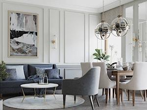 Dwupoziomowy penthouse dla miłośników współczesnej klasyki