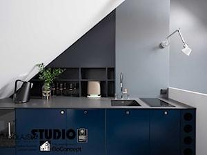 Eleganckie studio na poddaszu - zdjęcia z realizacji projektu
