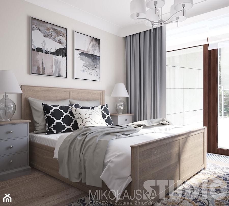 elegancka sypialnia w stylu nowojorskim - zdjęcie od ...