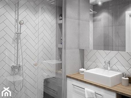 Aranżacje wnętrz - Łazienka: nowoczesna łazienka - MIKOŁAJSKAstudio. Przeglądaj, dodawaj i zapisuj najlepsze zdjęcia, pomysły i inspiracje designerskie. W bazie mamy już prawie milion fotografii!