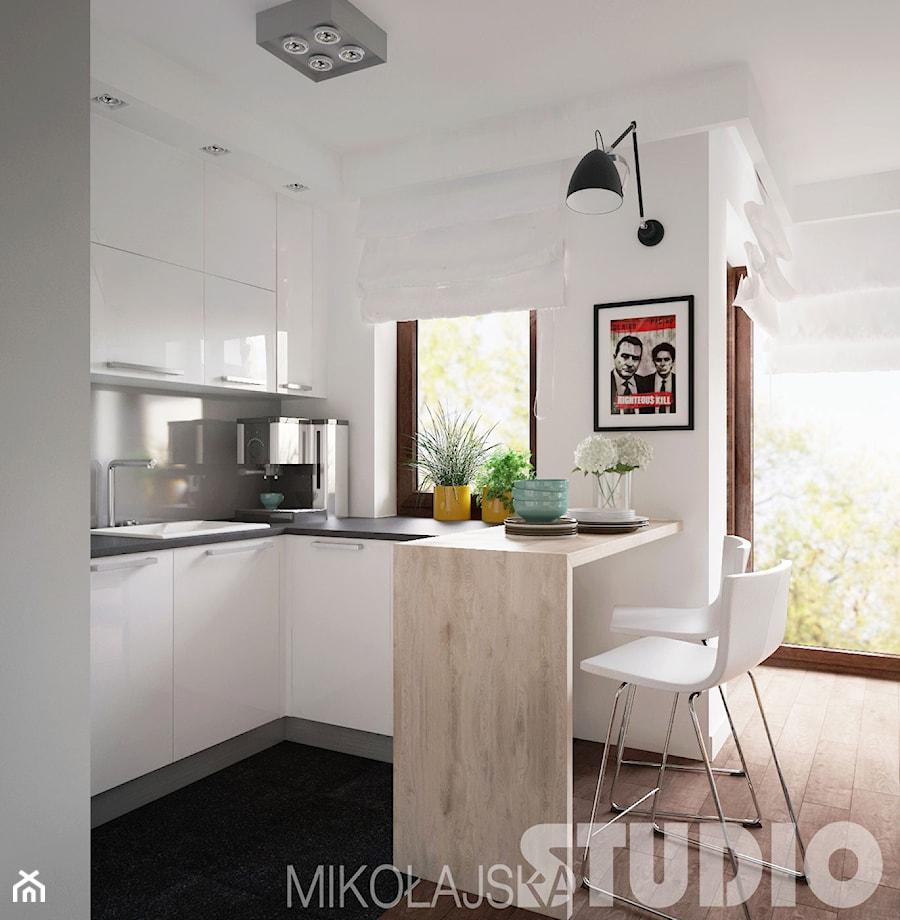 Kuchnia w malym, nowoczesnym mieszkaniu  zdjęcie od MIKOŁAJSKAstudio -> Otwarta Kuchnia Male Mieszkanie