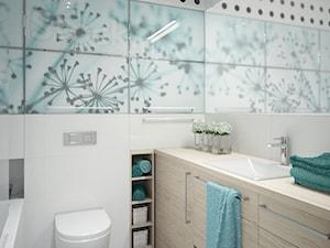 turkusowa łazienka - zdjęcie od MIKOŁAJSKAstudio