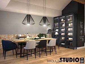Apartament na strychu - Jadalnia, styl industrialny - zdjęcie od MIKOŁAJSKAstudio