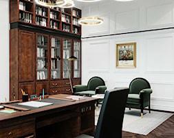 biblioteka retro z zielonym akcentem - zdjęcie od MIKOŁAJSKAstudio