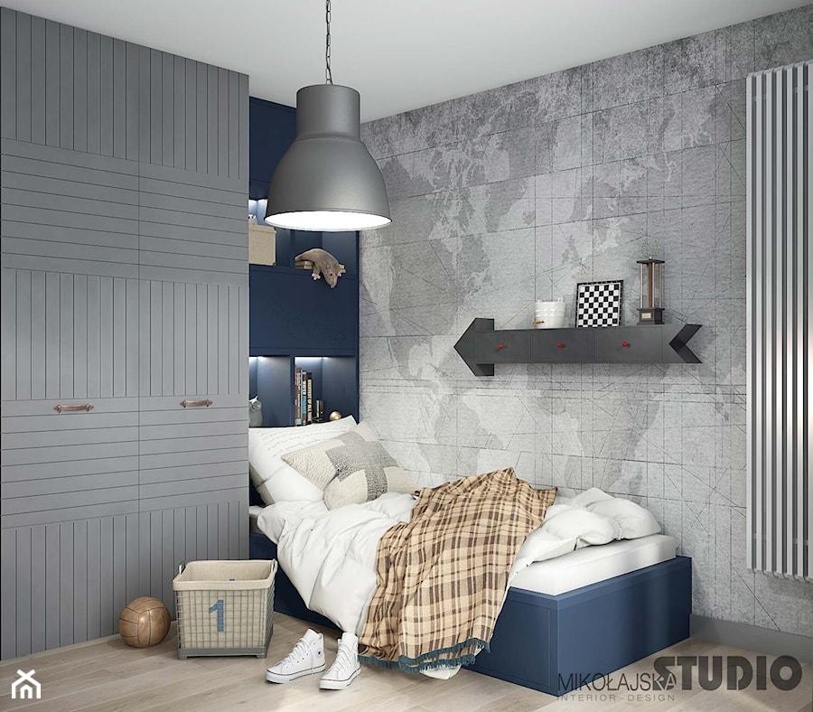 sypialnia w szrościach-fototapeta świat - zdjęcie od MIKOŁAJSKAstudio