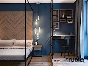 Niebieska sypialnia - zdjęcie od MIKOŁAJSKAstudio