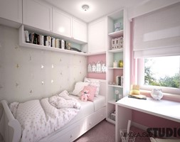sypialnia dla dziewczynki - zdjęcie od MIKOŁAJSKAstudio
