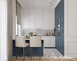 Biało-niebieska kuchnia - zdjęcie od MIKOŁAJSKAstudio - Homebook