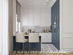 Biało-niebieska kuchnia - zdjęcie od MIKOŁAJSKAstudio