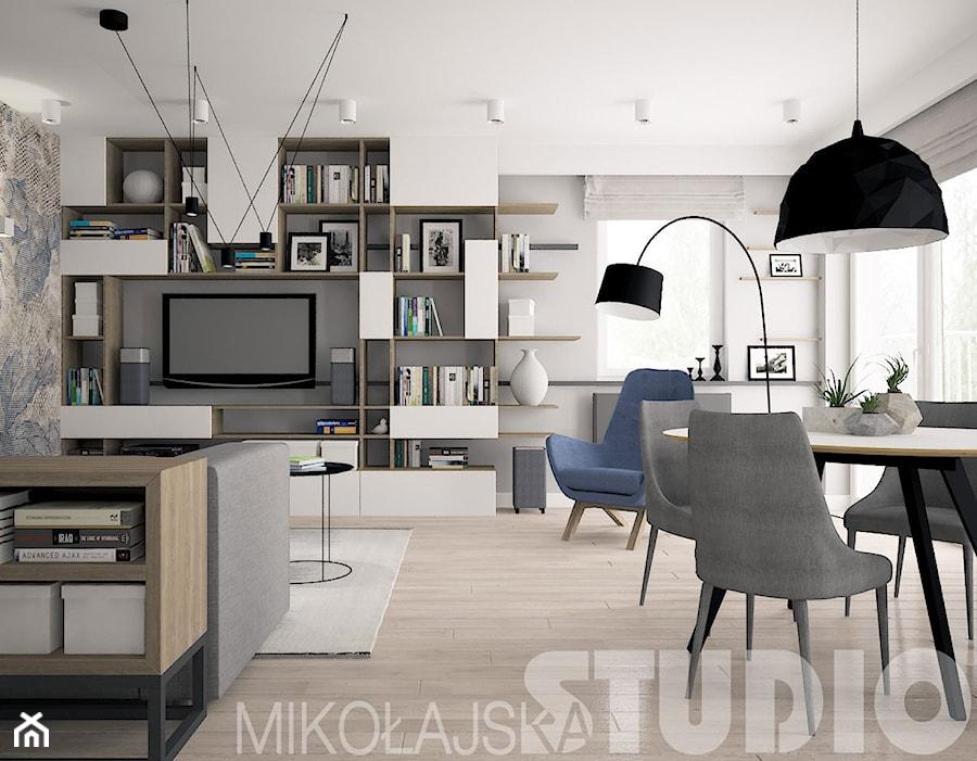 współczesne proste formy we wnętrzu - zdjęcie od MIKOŁAJSKAstudio
