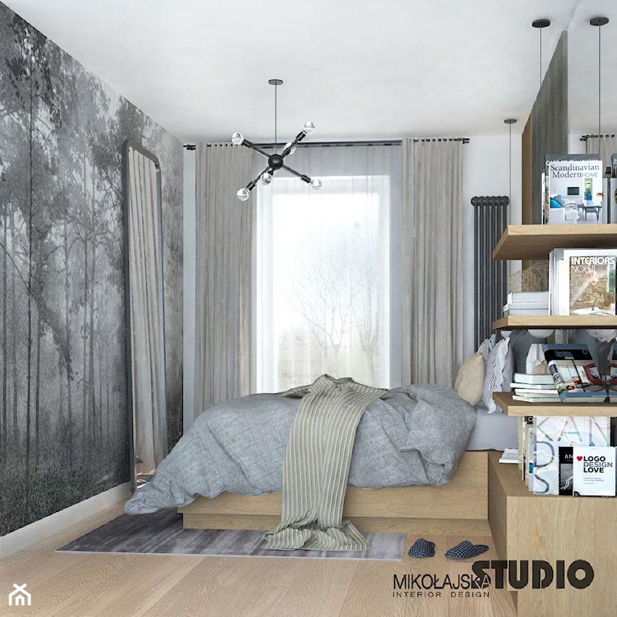 szara sypialnia - zdjęcie od MIKOŁAJSKAstudio