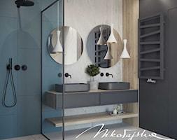 Łazienka w szarościach - zdjęcie od MIKOŁAJSKAstudio - Homebook