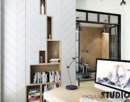 gabinet bliblioteka przestrzeń pracy - zdjęcie od MIKOŁAJSKAstudio