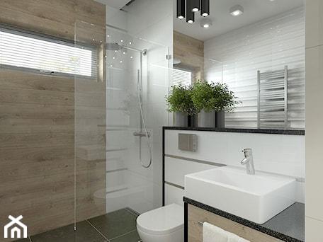 Aranżacje wnętrz - Łazienka: Mała łazienka w stylu skandynawskim - MIKOŁAJSKAstudio. Przeglądaj, dodawaj i zapisuj najlepsze zdjęcia, pomysły i inspiracje designerskie. W bazie mamy już prawie milion fotografii!