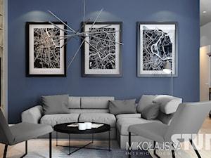 Piękny przytulny salon - zdjęcie od MIKOŁAJSKAstudio