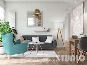 mały jasny salon - zdjęcie od MIKOŁAJSKAstudio