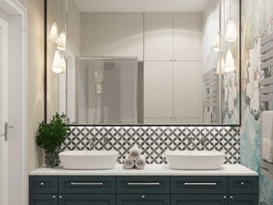 Duże lustro w łazience - zdjęcie od MIKOŁAJSKAstudio
