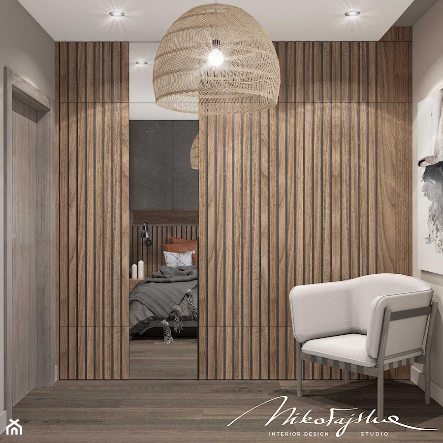 Apartament w Płocku - Sypialnia, styl nowoczesny - zdjęcie od MIKOŁAJSKAstudio