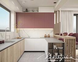 Kuchnia w ciepłych kolorach - zdjęcie od MIKOŁAJSKAstudio - Homebook