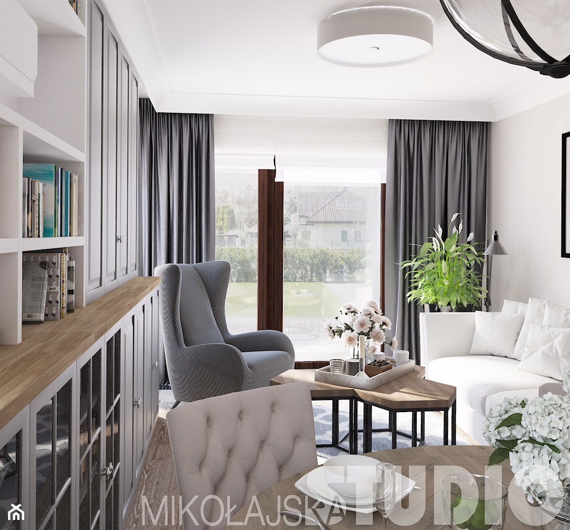 niewielki elegancki salon - zdjęcie od MIKOŁAJSKAstudio - Homebook