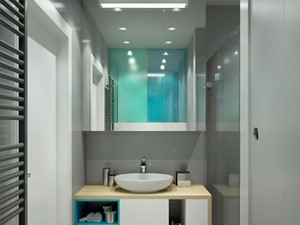 Zielono-niebieska łazienka - zdjęcie od MIKOŁAJSKAstudio