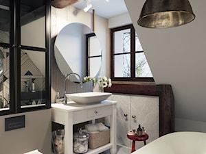 wiejska łazienka na poddaszu - zdjęcie od MIKOŁAJSKAstudio