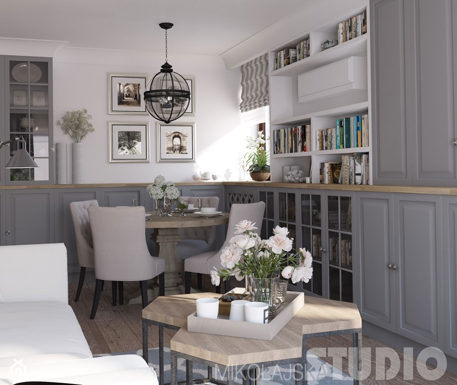 salon w stylu hamptons - zdjęcie od MIKOŁAJSKAstudio