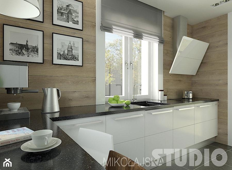 Kuchnia w stylu skandynawskim  zdjęcie od MIKOŁAJSKAstudio -> Kuchnia W Bloku W Stylu Skandynawskim