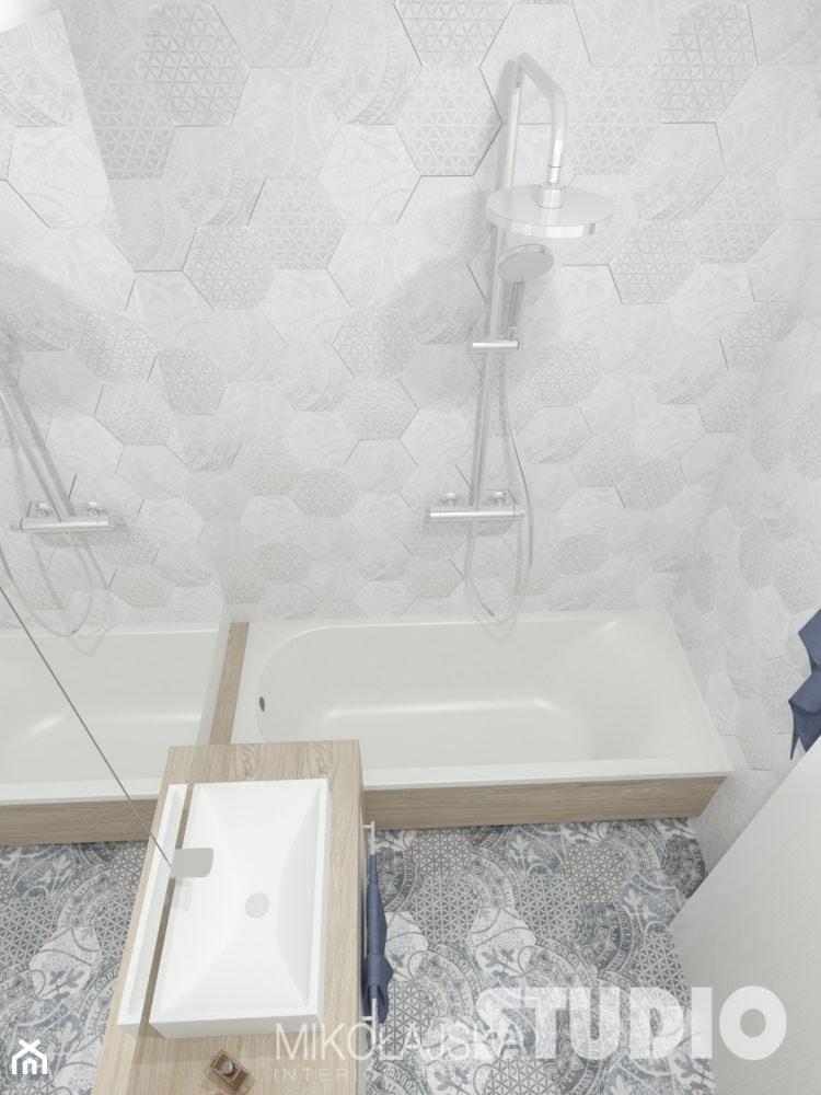 łazienka Mała Jasna Płytki Heksagonalne Zdjęcie Od