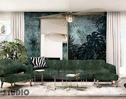 jasny salon-zielone meble - zdjęcie od MIKOŁAJSKAstudio