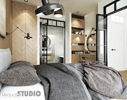 EXCLUSSIVE+BEDROOM+herring+bone+wood+black+steel+-+zdj%C4%99cie+od+MIKO%C5%81AJSKAstudio