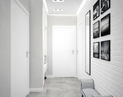czarno -biały korytarz - zdjęcie od MIKOŁAJSKAstudio
