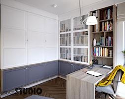 funkcjonalna zabudowa w gabinecie - zdjęcie od MIKOŁAJSKAstudio - Homebook