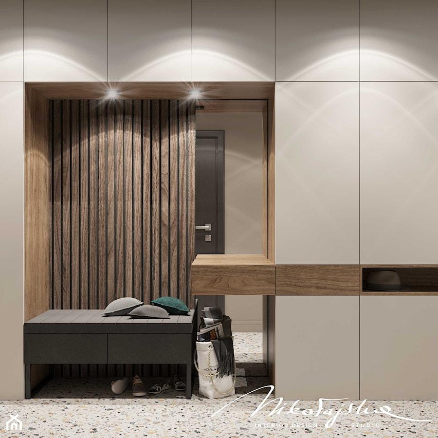 Apartament w Płocku - Hol / przedpokój, styl nowoczesny - zdjęcie od MIKOŁAJSKAstudio